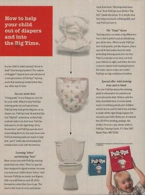 1995 Huggies Pull-Ups Diapers Vintage Print Ad Page Potty Training Diaper Advert