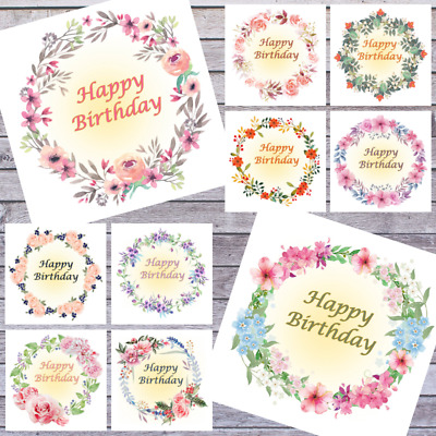 Wholesale Greeting Cards | 20 Floral Designs | Job Lot | Happy Birthday Cards