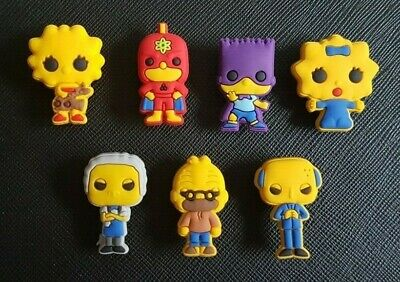 7 x The Simpsons Shoe Charms Made For Croc shoes Crocs Jibbitz Charm