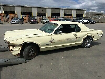 1967 Mercury Cougar 5.0 V8 Gt Very Very Rare Car.. Accident Damaged Repairable