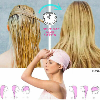 UK RAPID DRYING HAIR TOWEL Thick Absorbent Shower Cap Hair Fast Dry Shower Hat