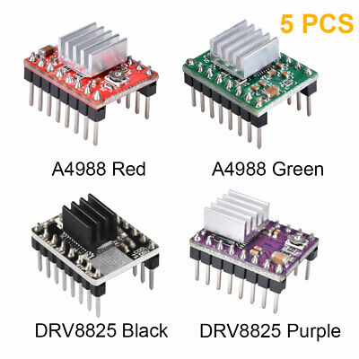 5pcs A4988 DRV8825 Stepper Motor Driver Module + Heatsink for Reprap 3D Printer