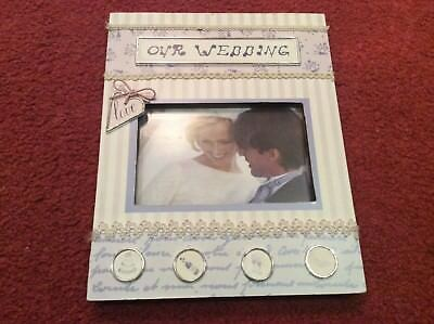 Our wedding picture frame gift 4 x 6 10cm x 15cm