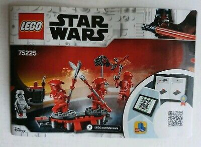 Lego Star Wars 75225 Elite Praetorian Guard Battle Pack  INSTRUCTION MANUAL ONLY