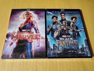 Black Panther + Captain Marvel DVD All New Clearance Sale Bundle Great Movies