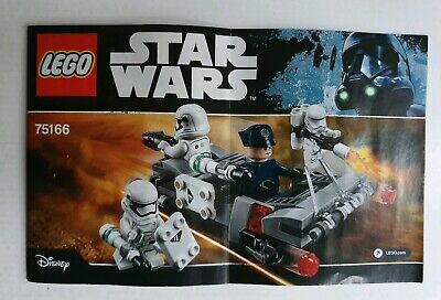 Lego Star Wars 75166 First Order Transport Speeder - INSTRUCTION MANUAL ONLY
