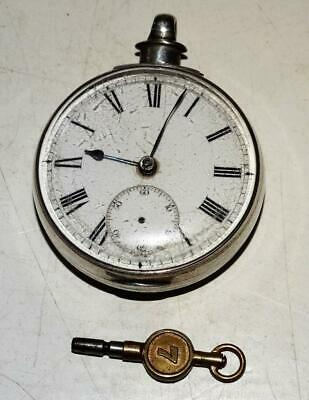Antique Solid Silver Fusee Pocket Watch,London 1879,Maker Engraved To Movement.