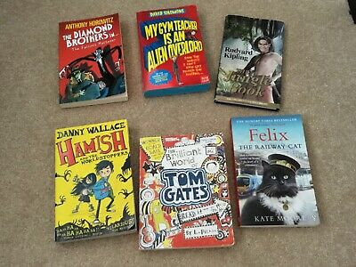 collection of books, jungle book by rudyard Kipling, Tom gates, Anthony Horowitz