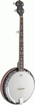 Lucky Penny Model B5-DL Deluxe 5 String Closed Back Resonator Banjo w/ Remo Head