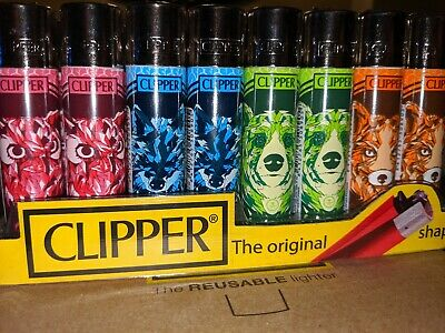 4 x Clipper Lighters SAVAGE ANIMALS NEW SET Gas Lighter Refillable