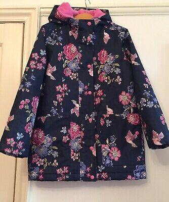 Joules Girls Floral, Fleece Lined Coat. Aged 11-12. Immaculate.