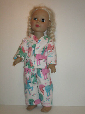 """Unicorn Believe in Magic Pajamas for 18"""" Doll Clothes American Girl"""