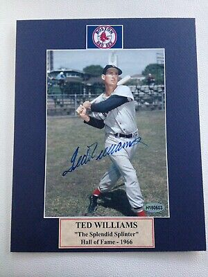 Williams Signed 5x7 Photo In A 8x10 Matt.     With COA