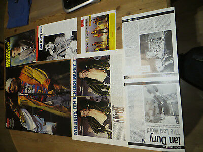 IAN DURY & the Blockheads / Solo   Pressematerial 800 Gramm  weltweit + Poster