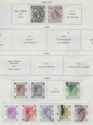 9 Hong Kong Stamps  from Quality Old Album 1931-1938