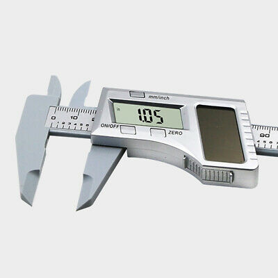 Vernier Caliper Accurate Digital Display Solar Panel Portable Metric Conversion