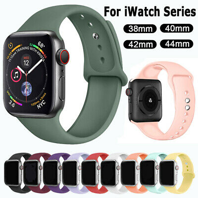 Silicone Sports Band Strap For Apple Watch Series 5 4 3 2 iWatch 38/42mm 40/44mm
