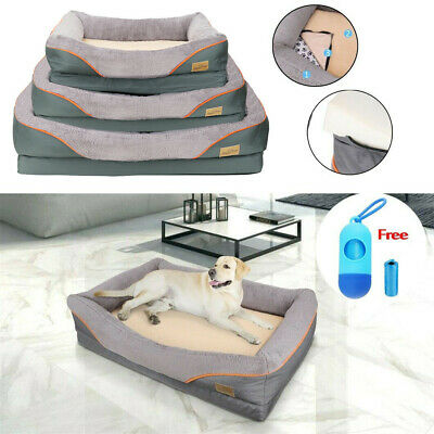 Jumbo Large Orthopedic Dog Bed Pet Sofa Living Room Couch Waterproof Oxford L/XL