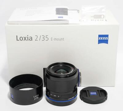 [Mint] Carl Zeiss Loxia 2/35 (Loxia 35mm F2) Sony E-mount w/Box Lens From Japan