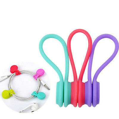 Reusable Magnetic Cable Ties Cord Organizers, Strong Magnetic Twist Ties
