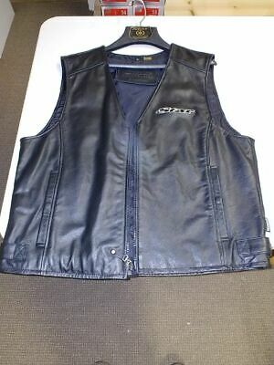 Star Motorcycles Genuine Yamaha Accessories Size Large Zippered Leather Vest