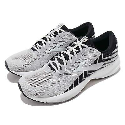 Brooks Launch 6 2E Wide Alloy Black Grey Men Running Shoes Sneakers 110297 2E