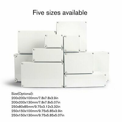 Waterproof Enclosure Box Electronic Plastic Project Instrument Junction Box