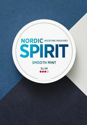 5 Dosen Nordic Spirit Smooth Mint Chewing Bags Snus Tabacco Snuff