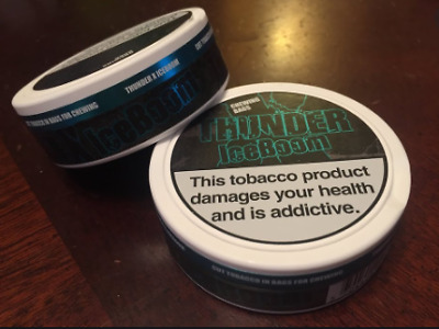 5 Dosen Thunder X Iceboom White Dry Chewing Bags Snus Tabacco Snuff Dip