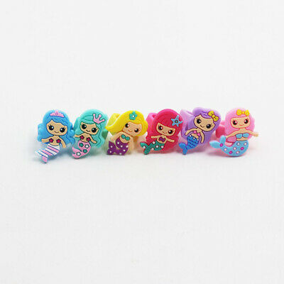 10 Pcs Princess Ring Children Kid Colored Ring Cute Girl Gift Finger Accessories