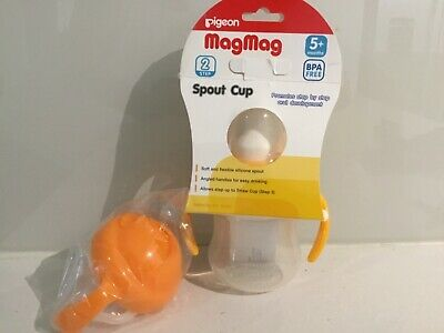 pigeon magmag spout cup 5+ months spout & straw attachment new unused