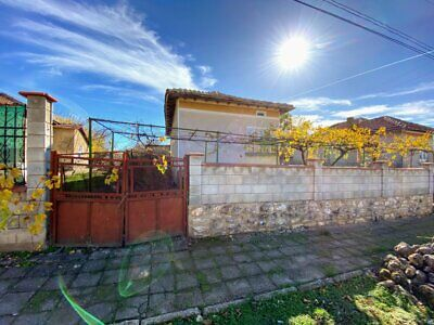 House in Bulgaria in great village near town, livable condition, 1000sqm garden
