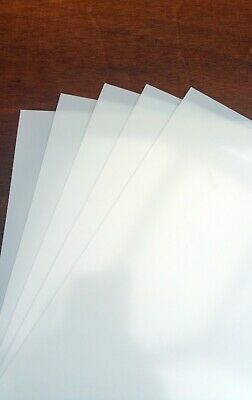 PACK OF 5 BLANK  A4 MYLAR STENCIL SHEETS 190 micron art mask sheets thick mylar