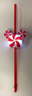 NEW Disney Parks 2019 Mickey Icon Christmas Peppermint LU Bottle Topper & Straw