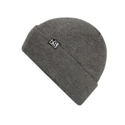 BlackStrap Essential Flip Tag Acrylic Beanie Grey New