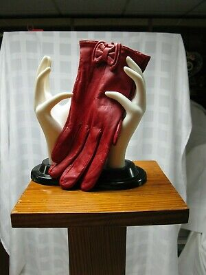WOMENS Preston York  LEATHER Red GLOVES China SIZE XL