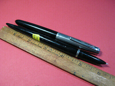 lot of 2 Parker 21 Fountain Pen Desk Pen & Standard - Black Parts or Repair ctg