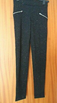 BNWT Girls Black Sparkly Leggings Age 12-13 yrs