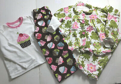Carter's Girls PJ's Size 4 Lot Of 2 Pairs Pajamas (ln14)