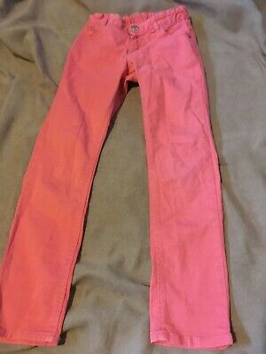 H & M Girls Salmon Pink Trousers Age 8 Years Good Congratulations
