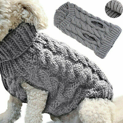 Knitwear Knitted Winter Clothes Puppy Chihuahua Jumper Coats Cat Pet Dog Sweater