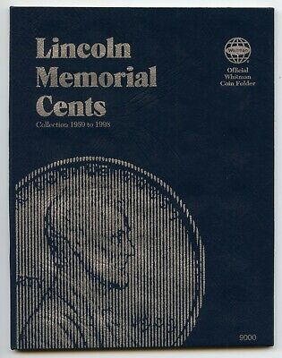 Coin Folder Lincoln Memorial Cent 1959 to 1998 Pennies Whitman Album 9000 Penny