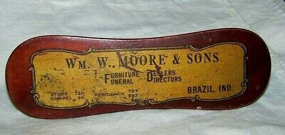 Antique Wood Wooden Clothes Brush-Wm Moore & Sons Funeral & Furniture-Brazil Ind