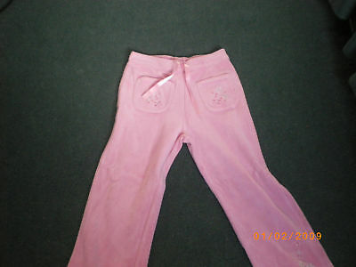 Girls dusky pink velour casual trousers/jog pants by Ne