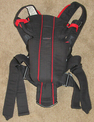 Baby Bjorn Black Red Lumbar Support Baby Infant Carrier 8-21 lbs
