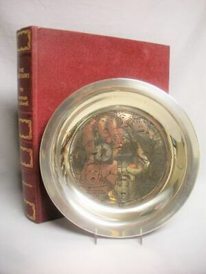 MIB 1972 Sterling Silver The Carolers Christmas Plate Norman Rockwell Limited