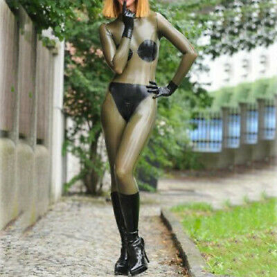 Latex Gummi Bodysuit Smoke gray Tight Kostüm Ganzanzug Overall Catsuit S-XXL