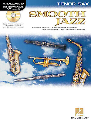 Smooth Jazz Tenor Sax Solo Sheet Music Saxophone Play-Along Book CD Pack