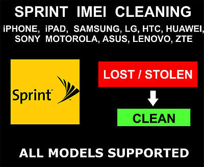 USA Sprint ESN IMEI Cleaning/ Unbarring/Unblacklist - All iPhone/Android/Windows