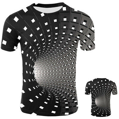 Funny Hypnosis 3D T-Shirt Men WomenS Graphic Casual Fashion Short Sleeve Tee Top